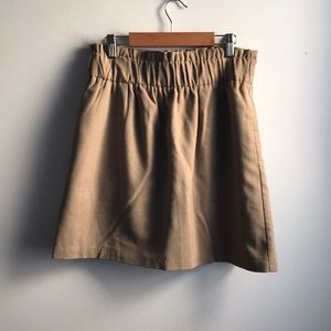 Sparkle & Fade tan paper bag casual mini skirt